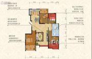 荣德・棕榈阳光4室2厅2卫134平方米户型图