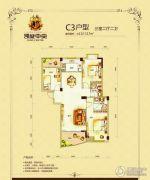 凯旋中央3室2厅2卫112--117平方米户型图