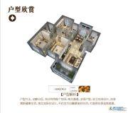 万新莱茵半岛3室3厅2卫124平方米户型图