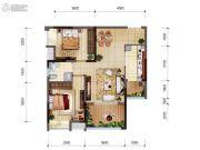 首创光和城2室2厅1卫64平方米户型图