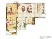 盛润锦绣城2室2厅1卫85平方米户型图