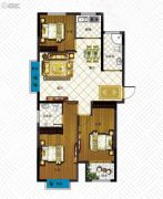 澳城苑库克船长3室2厅2卫107平方米户型图