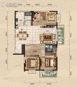 中冶・39大街4室2厅2卫144平方米户型图