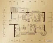 东方御景3室2厅2卫143平方米户型图