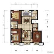 万科金域长春3室2厅2卫130平方米户型图