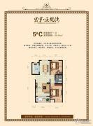 宏宇亚龙湾2室2厅1卫98平方米户型图