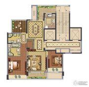 融创常州御园2室2厅2卫129平方米户型图