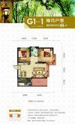 太湖明珠花园2室2厅1卫65平方米户型图
