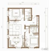 北京ONE2室2厅2卫132平方米户型图