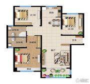 远洋・新天地3室2厅2卫134平方米户型图