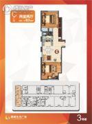 南通国城生活广场 2室2厅0卫83平方米户型图