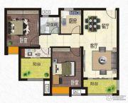 恒河嘉陵江东岸3室2厅1卫85平方米户型图