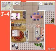 腾瑞・幸福里2室2厅1卫77平方米户型图