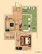 金河名都1室1厅1卫58平方米户型图