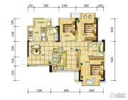 长虹和悦府3室2厅1卫87--89平方米户型图
