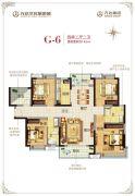 广州万达城4室2厅2卫142平方米户型图