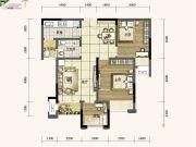 旭阳台北城敦美里2室2厅1卫65平方米户型图