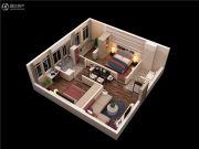 泰华・金汇时代2室2厅1卫84平方米户型图