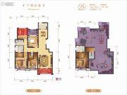龙记玖玺5室2厅3卫176平方米户型图