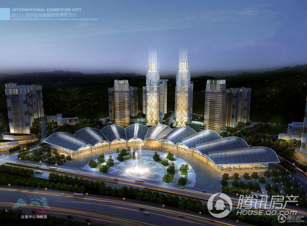 麒龙国际会展城——会展中心鸟瞰图