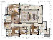 棕榈泉悦江国际4室2厅3卫0平方米户型图