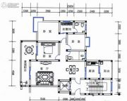丽江山海居3室1厅1卫132平方米户型图