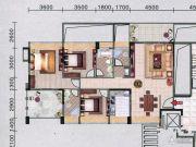 红棉雅苑3室2厅2卫131平方米户型图