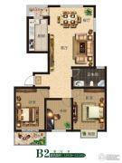 公园世家3室2厅1卫119--121平方米户型图