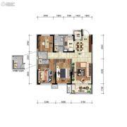 华润翡翠城3室2厅2卫100平方米户型图