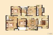 经纬学士逸居家园4室2厅2卫133平方米户型图
