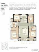 林荫大院4室2厅2卫180平方米户型图