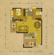 阳光蓝山郡三期2室2厅1卫98平方米户型图