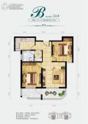 中央绿城2室1厅1卫76平方米户型图