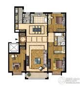 中信府3室2厅2卫172平方米户型图