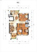 汇悦春天4室2厅3卫160平方米户型图