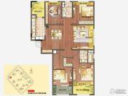 朗诗绿色街区4室2厅2卫144平方米户型图