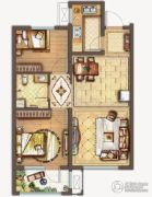 保利中央公园2室2厅1卫82平方米户型图