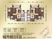 城市假日E区3室2厅2卫114--115平方米户型图
