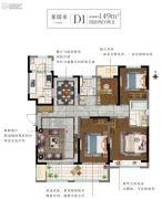 白塘壹号4室2厅2卫149平方米户型图