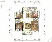 美的君兰江山4室2厅2卫139平方米户型图