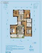 佳源湘湖印象4室2厅2卫133平方米户型图