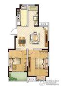 百丽明珠花园2室2厅1卫79平方米户型图