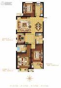 融科・玖玖派3室2厅2卫122平方米户型图