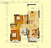 世界钰园2室2厅2卫113平方米户型图