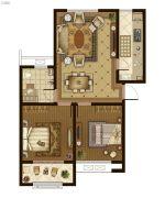 广厦・聚隆广场2室2厅1卫91平方米户型图