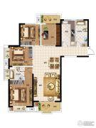 华启金悦府4室2厅2卫142平方米户型图