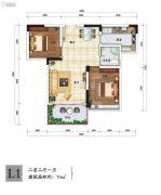 南山一号二期2室2厅1卫0平方米户型图