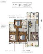 白塘壹号3室2厅2卫131平方米户型图