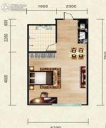 志城公馆1室1厅1卫42平方米户型图