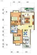 龙郡2室2厅1卫97平方米户型图